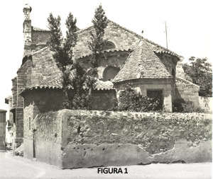 Fig. 1. Iglesia de Santa María la Nueva. Años 40 (Fototeca Obispado Zamora-Archivo Gullón)