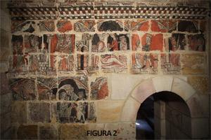 Fig. 2. Pinturas murales de la capilla lateral sur tras su restauración (Zamora Románica)