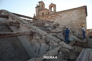 Fig. 4. Primera fase del Proyecto de Restauración. Desmontaje de las cubiertas (Zamora Románica)