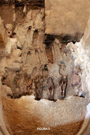 Fig. 5. Fotografía cenital de la excavación arqueológica en la zona de la cabecera (Strato S. L.)